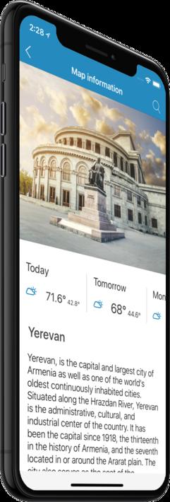 Yerevan - Offline map (iPhone, iPad, Android)!