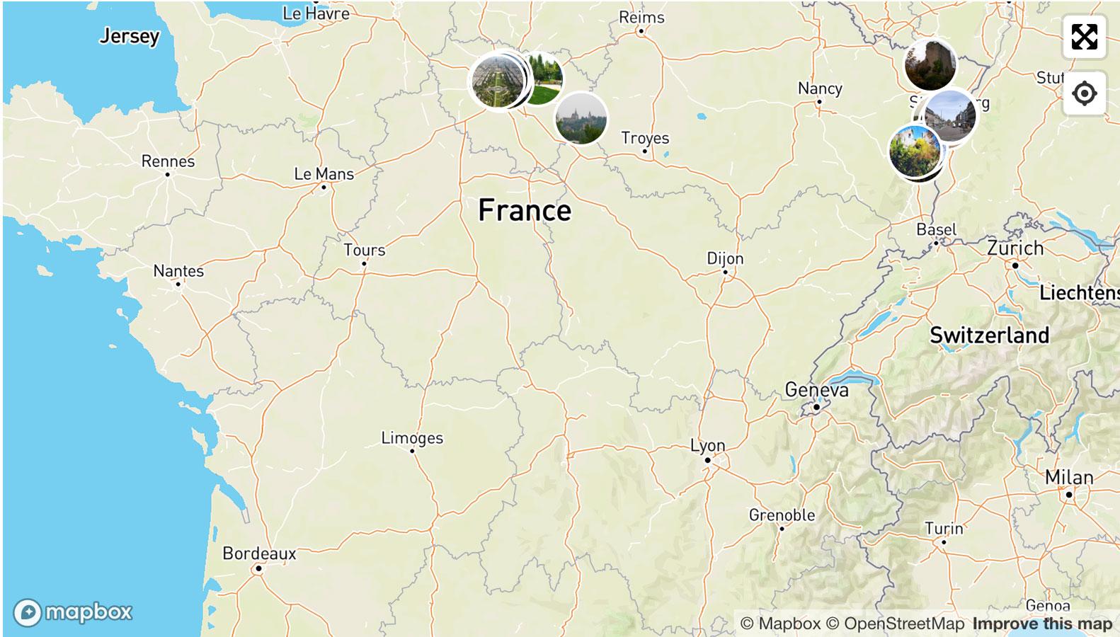 Karta Francii S Gorodami I Regionami Gde Nahoditsya Franciya Na