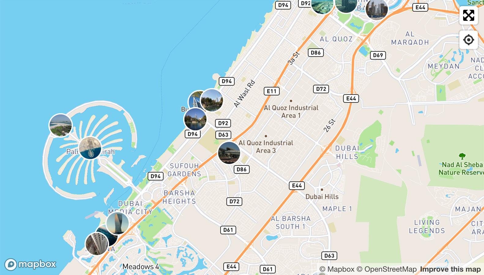 город дубай на карте