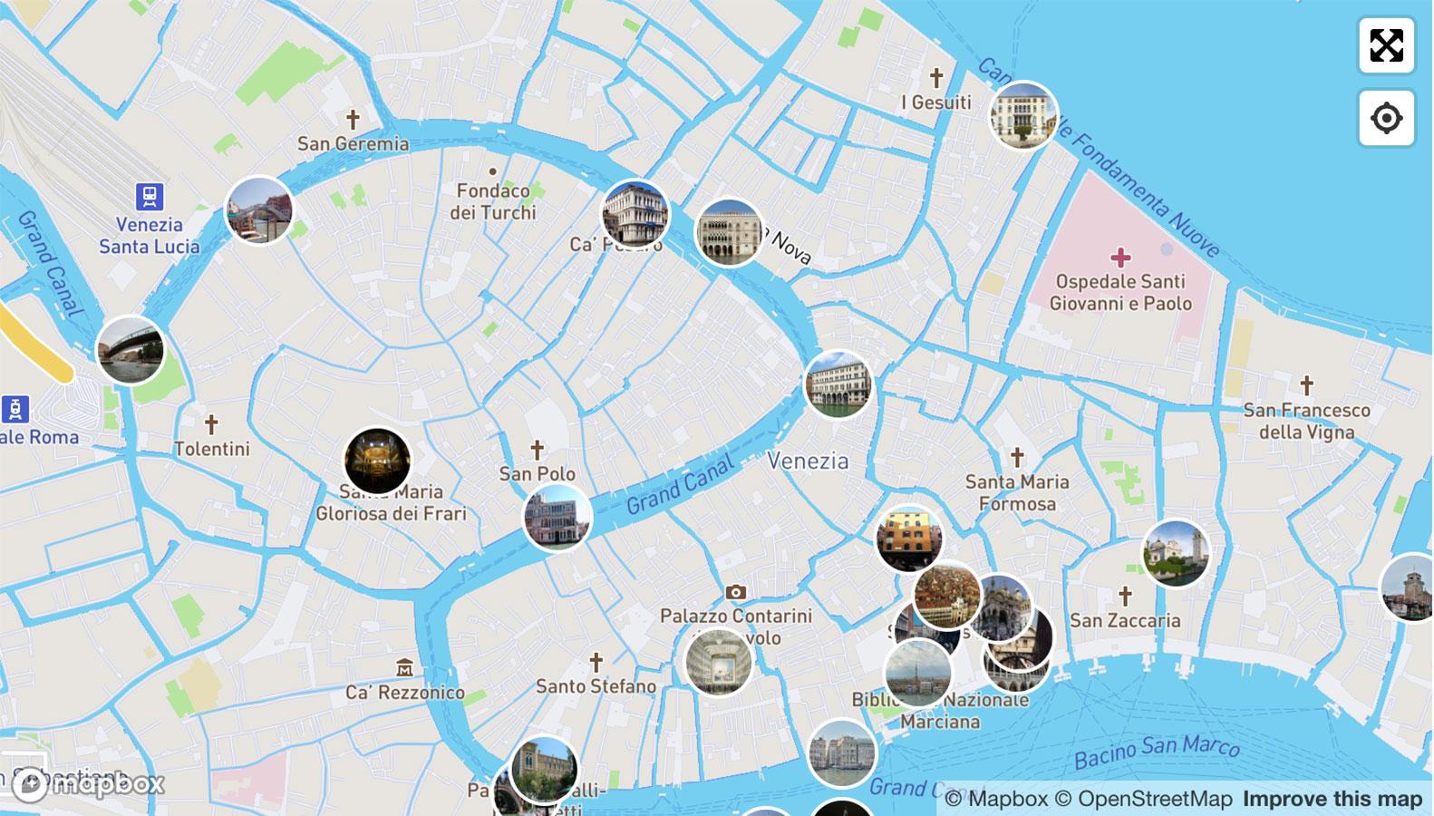 Karta Venecii Po Rajonam Turisticheskaya Karta Venecii Na Russkom