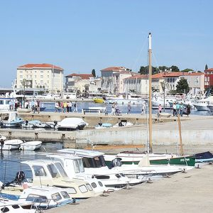 The embankment of Poreč